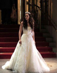 Blair Waldorf en robe de mariée Vera Wang dans la série Gossip Girl