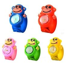 Monkey Children's Watches Silicone Slap Kids Watches Sports Boy Girl Quartz Wristwatch Creative Cute Baby Clock Christmas Gifts(China)