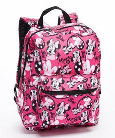 Another great find on #zulily! Pink Minnie Mouse All-Over Backpack by Minnie Mouse #zulilyfinds