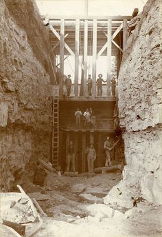 Constructing the spillway for the Blindman hydroelectric dam, where the Blindman River enters Red Deer. Red Deer, Historical Photos, Small Towns, The Past, River, Architecture, Outdoor, Vintage, Water Mill