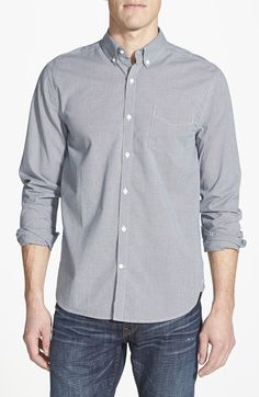 Lucky Brand 'Palisades' White Label Fit Micro-Plaid Woven Shirt available at #Nordstrom