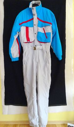 Vintage SKI SUIT ICARUS Size Euro 50 GB 40 Large Top Quality removable Hood Mens in Sporting Goods, Skiing & Snowboarding, Clothing, Hats & Gloves | eBay
