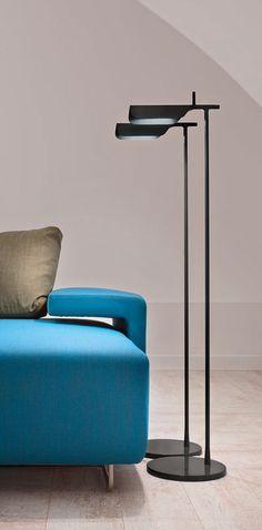 Edward Barber & Jay Osgerby   Discover the Flos standard lamp model Tab F designed by Edward Barber & Jay Osgerby, 2011.