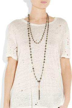 ROSANTICA  Rosarietto 24-karat gold-dipped pyrite necklace