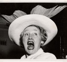 """From the 2009 """"This is Not a Fashion Photograph: Selections from the ICP Collection."""" Weegee (Arthur Fellig)  """"Hopper's Topper,"""" Hedda Hopper, Hollywood, ca. 1948 © Weegee/International Center of Photography/Getty Images  International Center of Photography"""