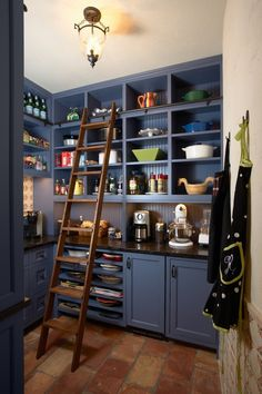 10 Kitchen Pantry Ideas for Your Home Pantry Storage, Pantry Organization, Kitchen Storage, Pantry Ideas, Pantry Room, Kitchen Shelves, Organized Pantry, Dish Storage, Storage Shelves