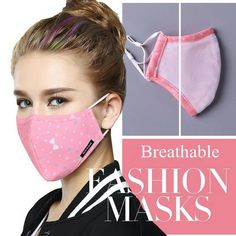Korean Style Mask On The Mouth Anti dust mouth mask – Beauty Hives – face mask Diy Mask, Diy Face Mask, Face Masks, Mouth Mask Design, Maybelline Concealer, Mouth Mask Fashion, Female Mask, Free Sewing, Sewing Diy