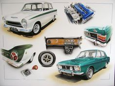 50 YEARS OF FORD CORTINA CELEBRATION LOTUS 1600E TWIN CAM GEAR ROSTYLE WHEELS