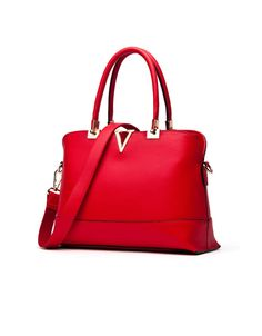 a3190c51e5 Wholesale Fashion V Logo Concise Women s Tote Bag With Candy Color and  Metallic Design