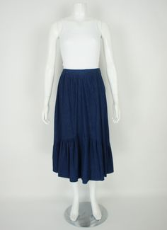 80's Denim Prairie Skirt