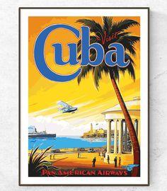 Old Posters, Retro Poster, Poster Print, Vintage Travel Posters, Poster Poster, Poster Wall, Vintage Cuba, Photo Vintage, Vintage Style