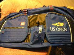 Tennis Bag Wilson (U.S. Open) Blue Black Yellow Flame NWOT
