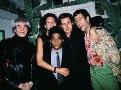 Andy Warhol, Jacqueline Schnabel, Jean-Michel Basquiat, Julian Schnabel and Kenny Sharf at the opening party of Indochine.