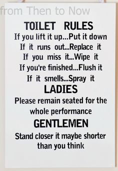 Wooden Funny Plaque Sign Toilet Rules Bathroom Stuff Pinterest Wood Signs And Pallets
