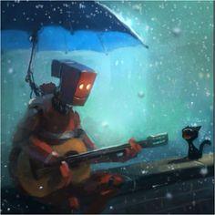 Funny Character Paintings By Goro Fujita Mayhem in house painting robot Funny Character, Character Concept, Character Art, Concept Art, Print Image, Lapin Art, Arte Robot, Image Digital, Digital Art