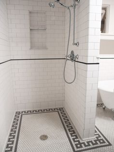 Traditional Bathroom Greek Key Tile Pattern Design Pictures Remodel Decor And Ideas