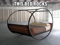 This bed rocks, literally...