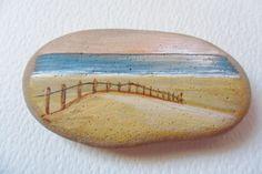 Early morning beach scene  Hand painted by ShePaintsSmallThings, $25.00
