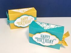 Happy Birthday Gorgeous Double Flap Gift Box - Video Tutorial, New Stampin' Up Catalogue Week. - YouTube