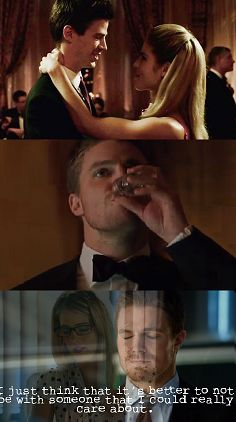 #Arrow #Olicity- That line is totally what lead to my Olicity obsession. So why's he with sara, hmmm?
