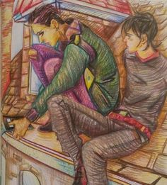 Mortal instruments coloringbook Malec 💖💗💝