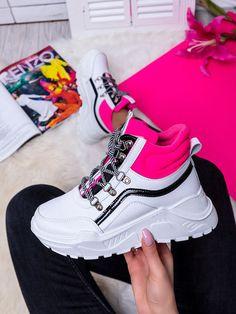 Dámske bielo-cyklamenové mohutné tenisky LV93-18BCY Air Max Sneakers, Sneakers Nike, Nike Air Max, Sport, Fashion, Nike Tennis Shoes, Deporte, Fashion Styles, Sports
