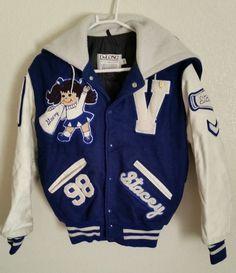 1989 Vintage High School Cheerleader Letterman Varsity Jacket Sz S | eBay