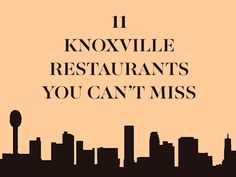 Knoxville is a small, unsuspecting city, but don't let that fool you. When it comes to eating out and drinking, locals will quickly tell you who is dishing up the best. From OliBea to Knox Mason, here's where to eat and drink in Knoxville.