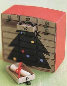 Matchbox advent calendar - I really want to make one of these next year. So cute!