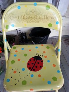 My DIY painted folding chair.. <3