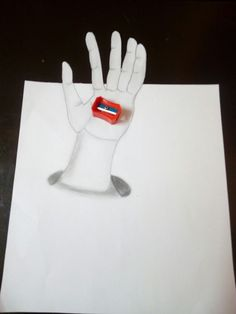 3 D drawing how to get a hand from the paper