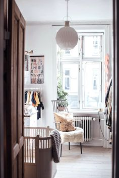 my scandinavian home: A Charming little boys room in a Copenhagen Apartment Full Of Vintage Finds