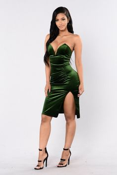 Perfect for the Holidays! - Available in Black, Wine, and Hunter Green - Velvet - Wire V Neck - Polyester, Spandex