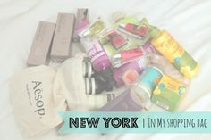 NEW YORK | In My Shopping Bag *ONCE UPON A CREAM Vegan Beauty Blog*