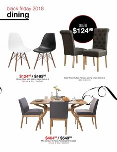 Parsons Dining Chairs, Dining Chair Set, Black Friday News, Solid Wood, Coupons, Mid Century, Ads, Check, Furniture