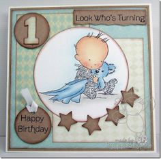 Cute 1st Birthday card....LOTV image