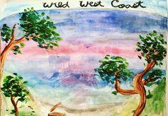Wild West Coast Watercolour Sketchbook Painting by NyxStudioArt Watercolor Sketchbook, Watercolour, 2d Art, Wild West, Nyx, West Coast, North America, Artwork, Nature
