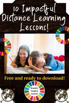 10 Impactful Distance Learning Lessons to use...now! The World's Largest Lesson has adapted 7 lesson plans for distance learning, and also included 3 printable activities for students to also craft at home, all revolving around the UN Global Goals! Continue reading for a brief summary of each activity all in one spot, along with direct PDF links to the activities!  #SDGs #Agenda2030 #GlobalGoals #sustainabilityeducation #lessons Educational Activities, Family Activities, Un Global Goals, Sustainability Education, Learning Apps, Learn Faster, Project Based Learning, Learning Disabilities, School Hacks