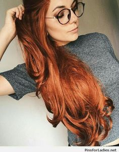 Last of all I want to say that go with these 13 Gorgeous Fall Hair Colors which are known as Best Hair Color Trends for fall and make your fall more enjoyable effectively. Fall Hair Colors, Red Hair Color, Cool Hair Color, Red Hair Shades, Ginger Hair Color, Red Hair And Glasses, Gorgeous Hair Color, Pretty Red Hair, Auburn Hair