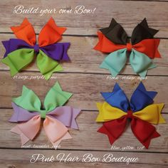 Baseball hair bow Choose your colors by PinkHairBowBoutique