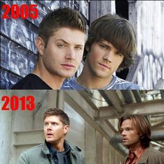 Jensen Ackles & Jared Padalecki. They were such babies! Oh my gosh.