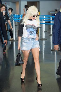 Your new look's ethereal, Gaga.   Lady Gaga Just Casually Slayed The JFK Airport Terminal