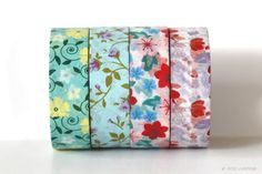 Pretty Flowers washi tape - 15mmx10m/roll  made in China  ***this is not a toy, not intended for children 12 and under **** $2.00