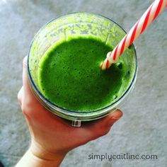 A power Green Smoothie to keep ya going! http://simplycaitlinc.com/green-smoothie/