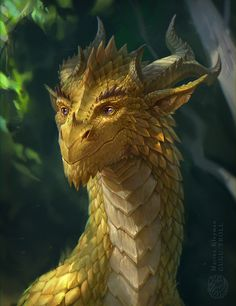 Beautiful dragon!! Sunny dragon by gugu-troll  /So pretty EL/