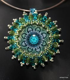 Mandala Glass Pendant by Afrikitten / Stoned Cherry, via Flickr