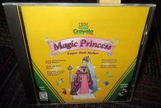 CRAYOLA MAGIC PRINCESS, PAPER DOLL MAKER PC CD-ROM BY IBM, AGES 6-12, WIN/MAC