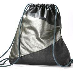 Ein persönlicher Favorit aus meinem Etsy-Shop https://www.etsy.com/de/listing/246695625/turnbeutel-anthrazit-silber-gym-bag