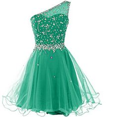 Real Made One Shoulder Homecoming Dresses ,Beading Graduation Dresses,Homecoming Dress,Short/Mini Homecoming Dress