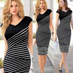 Ärmelloses Kleid Schwarz-Weiß - Jetzt reduziert bei Lesara